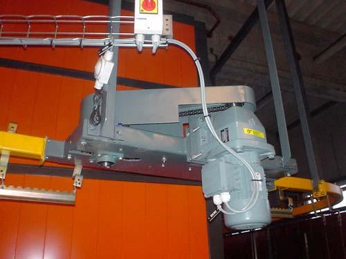 Станция привода цепи(мотор-редуктор с зацепным механизмом).
